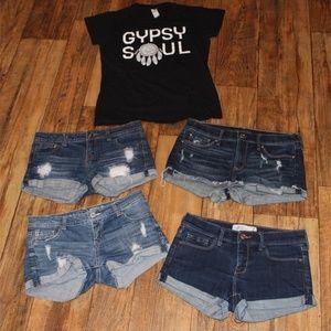 Gypsy Soul Distressed Shorts Bundle